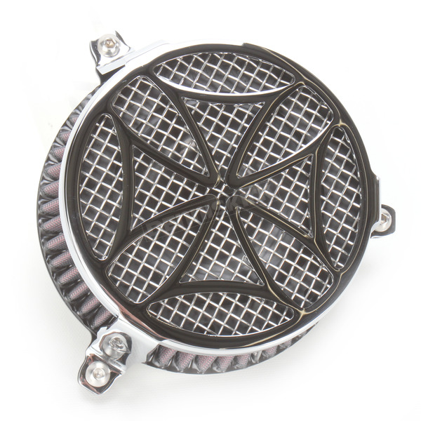 Cobra Chrome Cross Air Cleaner - 06-0137-02