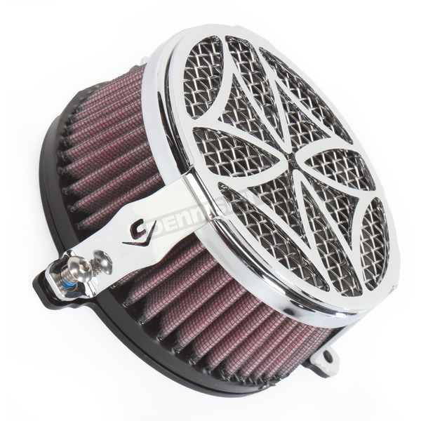 Cobra Chrome Cross Air Cleaner - 06-0225-02