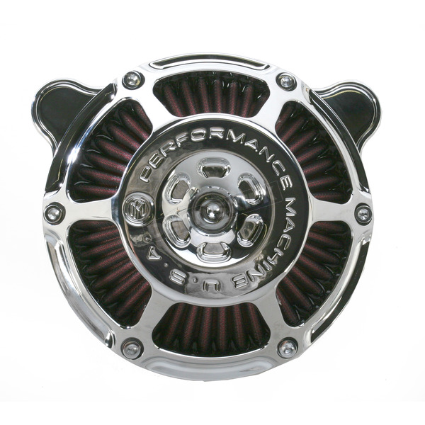 Performance Machine Chrome Max HP Air Cleaner - 0206-2081-CH