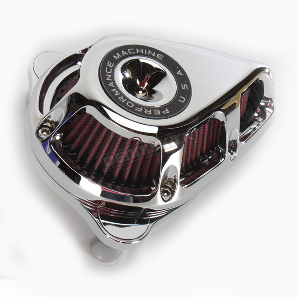 Performance Machine Chrome Jet Air Cleaner - 0206-2113-CH
