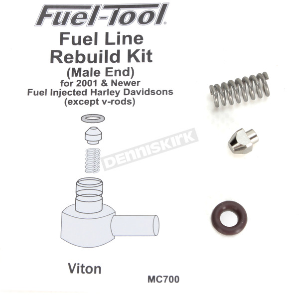 Fuel-Tool Fuel Line Male End Rebuild Kit - MC700