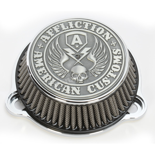 LA Choppers Chrome Affliction Air Cleaner - LA-2990-01