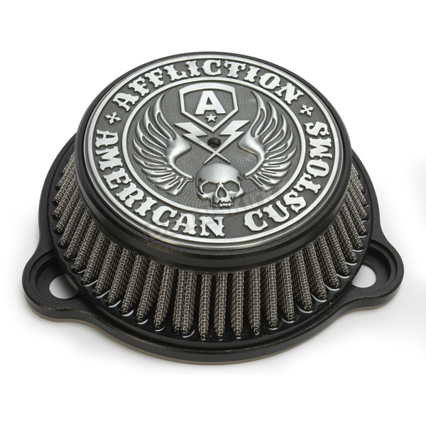 LA Choppers Black Affliction Air Cleaner - LA-2990-01B