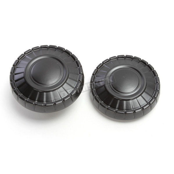 Kuryakyn Satin Black Aztec Fuel Caps - 7388