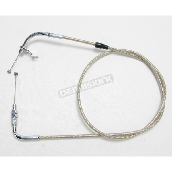 Motion Pro 53 1/2 in. Armor Coat Braided Stainless Steel Pull Throttle Cable - 64-0237