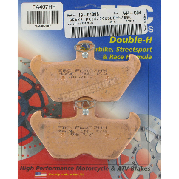 EBC Double-H Sintered Metal Brake Pads - FA407HH