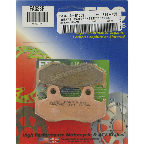EBC Long-life Sintered R-Series Brake Pads - FA323R