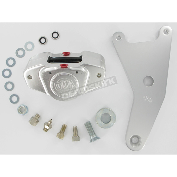 GMA Engineering Custom 2-Piston Rear Classic Clear Anodized Brake Caliper - GMA-100