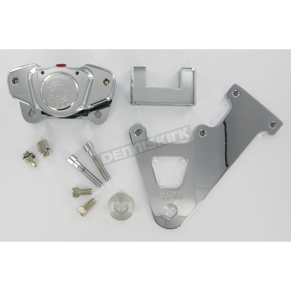 GMA Engineering Custom 2-Piston Rear Smooth Chrome Brake Caliper - GMA-103SASC