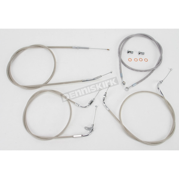 Baron Custom Accessories 16 in. Handlebar Cable and Line Kit - BA-8015KT-16