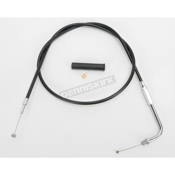 Drag Specialties Alternative Length Black Vinyl Throttle Cable for Custom Height/Width Handlebars - 0650-1088