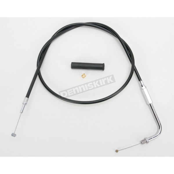 Drag Specialties Alternative Length Black Vinyl Throttle Cable for Custom Height/Width Handlebars - 0650-1090