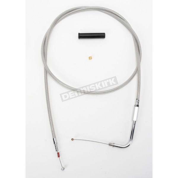 Drag Specialties Alternative Length Stainless Steel Idle Cable for Custom Height/Width Handlebars - 0651-0622