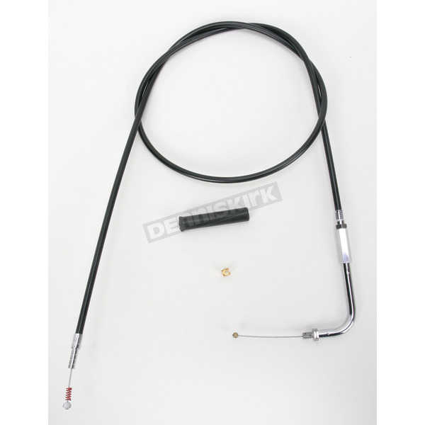 Drag Specialties Alternative Length Black Vinyl Idle Cable for Custom Height/Width Handlebars - 0651-0649