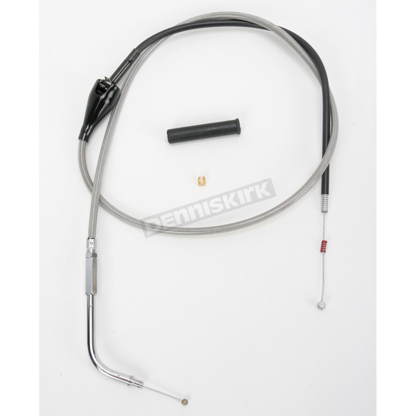 Drag Specialties Alternative Length Cruise Control Stainless Steel Idle Cable for Custom Height/Width Handlebars  - 0651-0660