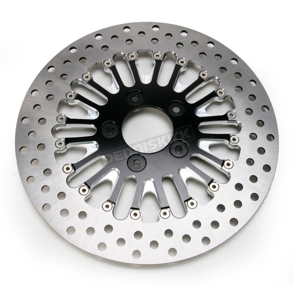Roland Sands Design Front 11.5 in. Boss Two-Piece Contrast-Cut Brake Rotor - 01331522BSSLSBM