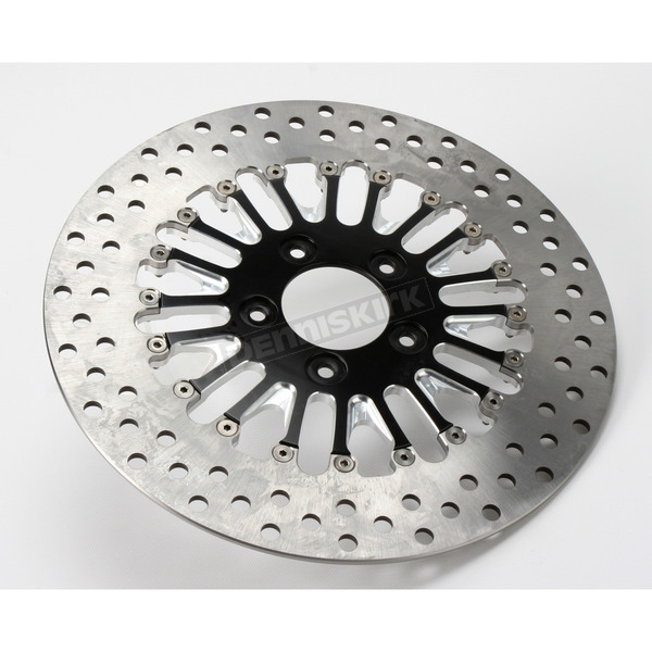 Roland Sands Design Front 11.8 in. Boss Two-Piece Contrast-Cut Brake Rotor - 01331800BSSSSBM