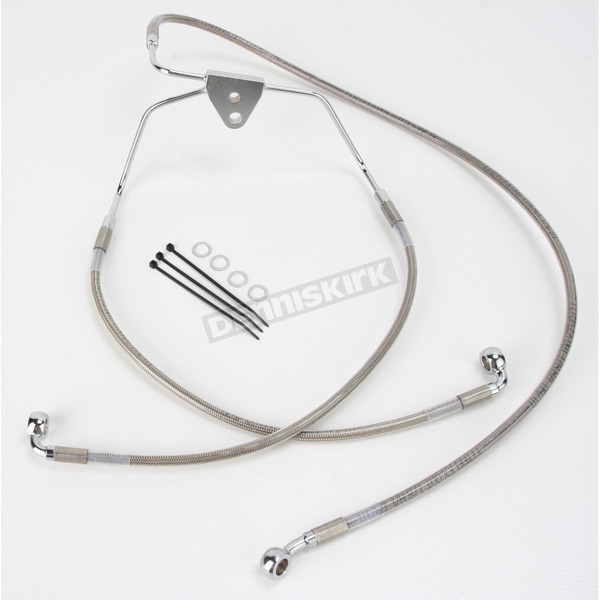 Front Extended Length Braided Stainless Steel Brake Line Kit +8 in. - 1741-2627
