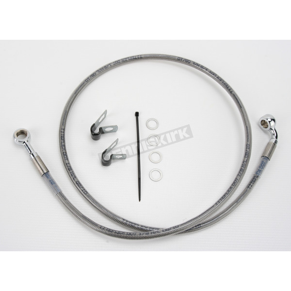 Drag Specialties Front Extended Length Braided Stainless Steel Brake Line Kit +2 in. - 1741-2644