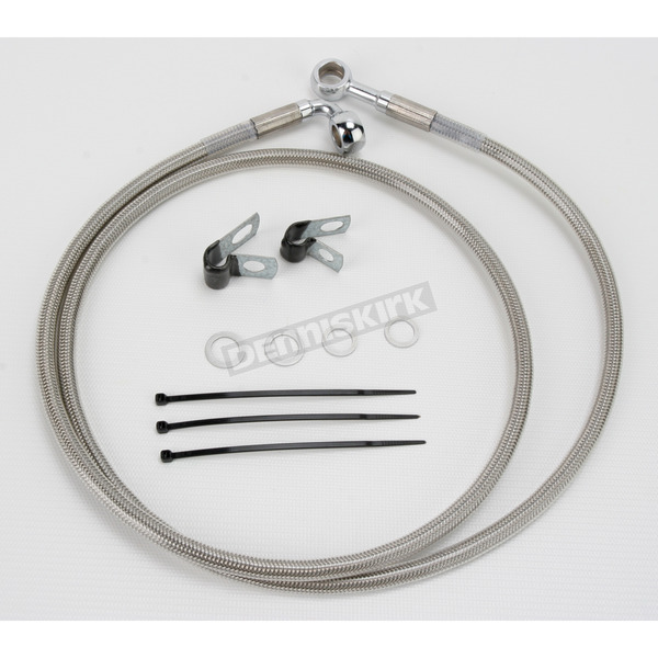 Drag Specialties Front Extended Length Braided Stainless Steel Brake Line Kit +2 in. - 1741-2657