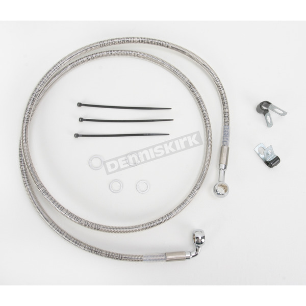 Drag Specialties Front Extended Length Braided Stainless Steel Brake Line Kit +8 in. - 1741-2678