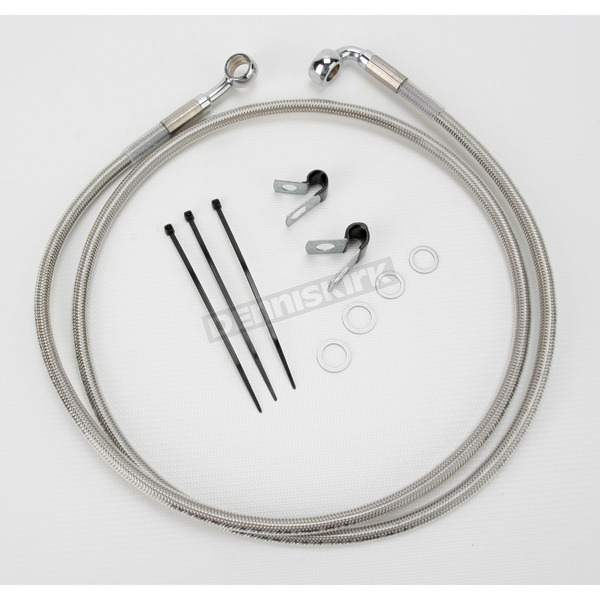 Drag Specialties Front Extended Length Braided Stainless Steel Brake Line Kit +10 in. - 1741-2679