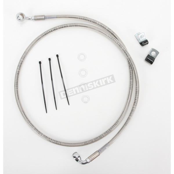 Drag Specialties Front Extended Length Braided Stainless Steel Brake Line Kit +6 in. - 1741-2692