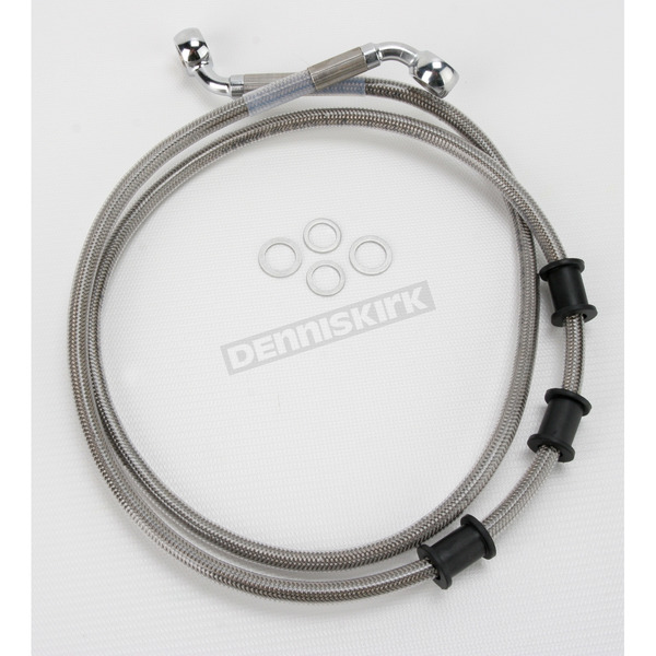 Drag Specialties Front Extended Length Braided Stainless Steel Brake Line Kit +4 in. - 1741-2842