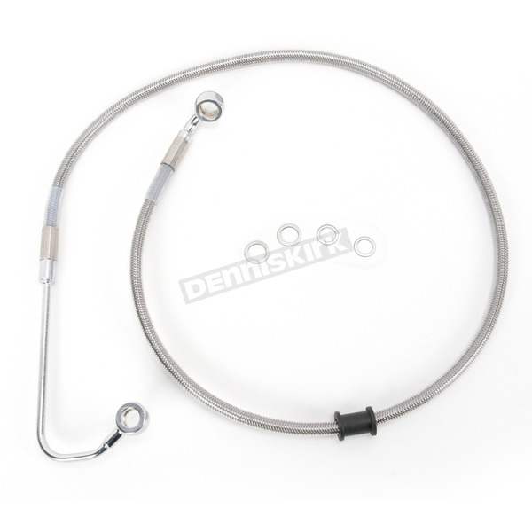 Drag Specialties Front Extended Length Braided Stainless Steel Brake Line Kit +8 in. - 1741-3027