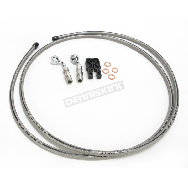 Magnum Custom Sterling Chromite II Designer Series BYO Braided Stainless Steel Single Disc Brake Line Kit with 6 Ft. Brake Line and 10mm 35 Degree Banjo - 396135A