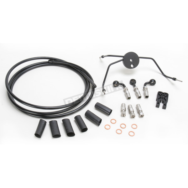 Magnum Black Pearl Designer Series Build Your Own Braided Dual Disc DOT Brake Line Kit with 7 foot Brake Line - 490990A