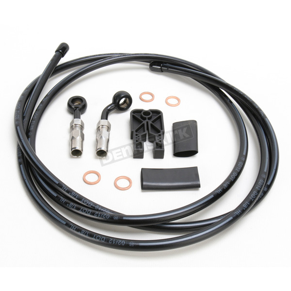 Magnum Black Pearl Designer Series BYO Braided Single Disc 6 Ft Brake Line Kit with 10mm 180 Degree Banjo - 496100A