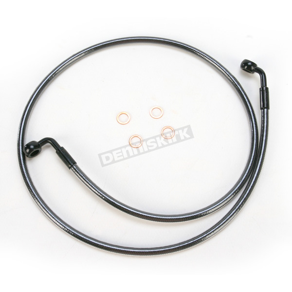 Magnum Black Pearl Designer Series 90 Degree Top Angle Custom Single-Disc Front Brake Line - 46544SW