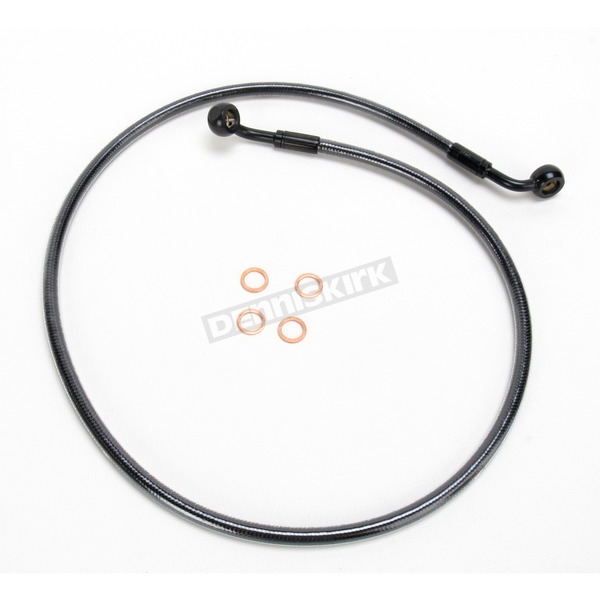 Magnum Black Pearl Designer Series 60 Degree Top Angle Custom Single-Disc Front Brake Line - 46640SW