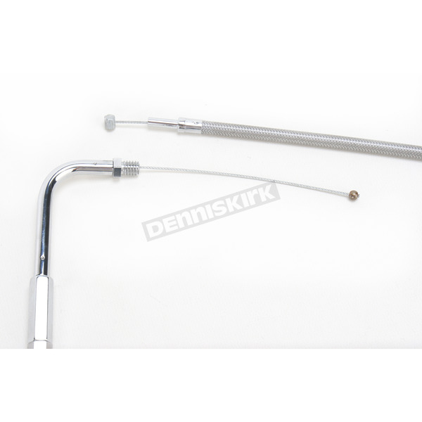 Drag Specialties Alternative Length Stainless Steel Throttle Cable for Custom Height/Width Handlebars - 0651-0699