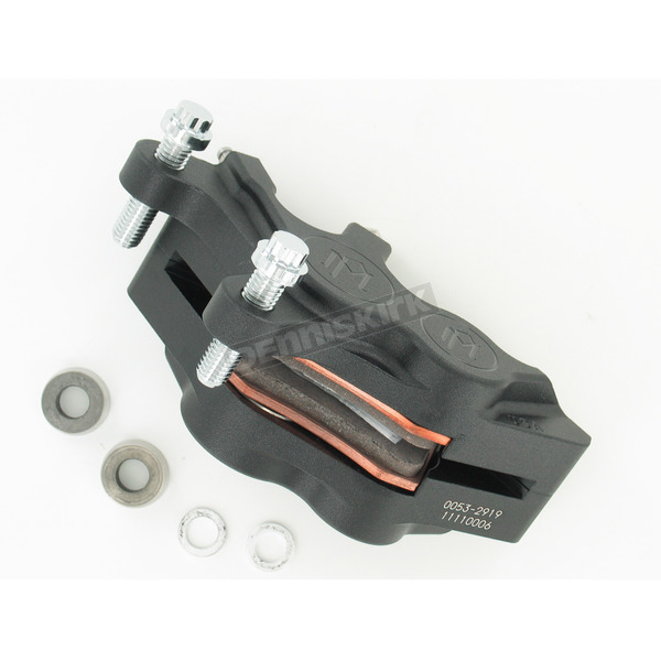 Performance Machine Direct Bolt-On 4-Piston Black Ops Left Caliper - 0053-2919-SMB