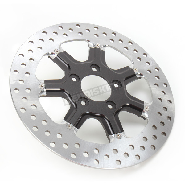 Roland Sands Design Front 11.8 in. Morris Two-Piece Black Ops Brake Rotor - 01331800MRSLSMB