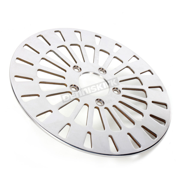 Drag Specialties Front 11.5 in. Klassic Polished Stainless Steel Brake Rotor - 1710-2023