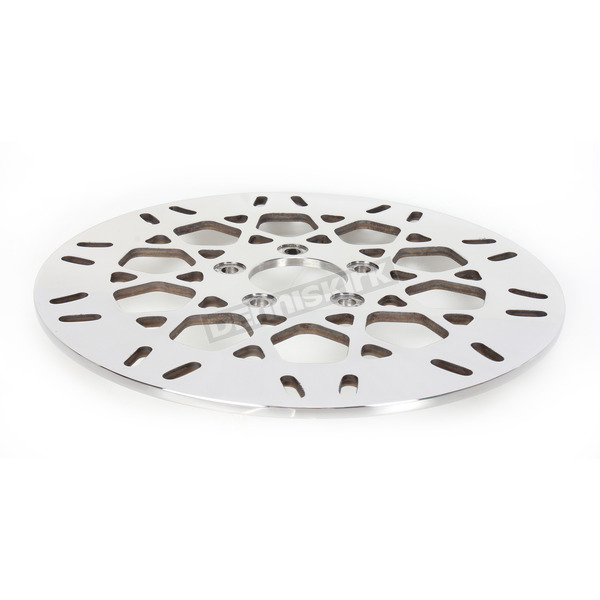 Drag Specialties Rear 11.8 in. Mesh Polished Stainless Steel Brake Rotor - 17102030