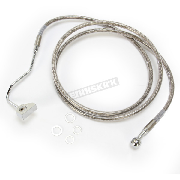 Drag Specialties Front ABS Extended Length Stainless Steel Braided Brake Line Kit +2 in. - 1741-3989