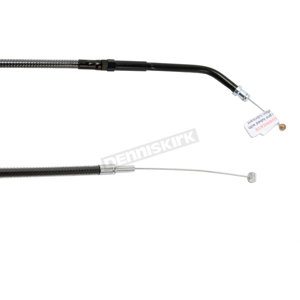 Magnum Black Pearl Designer Series Alternative Length Braided Throttle Cable for Custom Handlebars - 43364