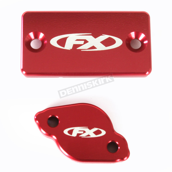 Factory Effex Red Brake Reservoir Cover Kit - 18-36220