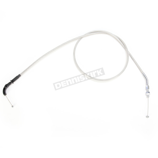 Motion Pro Armor Coat Braided Stainless Steel Pull Throttle Cable +8 in. - 64-0264