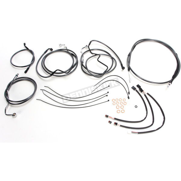 Magnum Black Pearl Designer Series Handlebar Installation Kit for use w/15 in.-17 in. Ape Hangers w/ABS - 487722