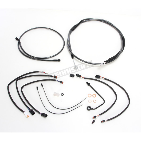 Magnum Black Pearl Designer Series Handlebar Installation Kit for use w/15 in.-17 in. Ape Hangers w/ABS - 487812