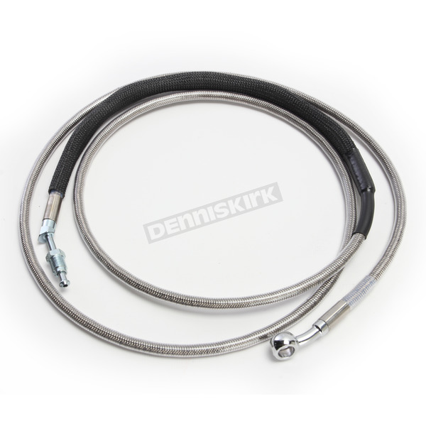 Drag Specialties Clear Coated Stainless Steel Hydraulic Clutch Line (Std.) - 0661-0035