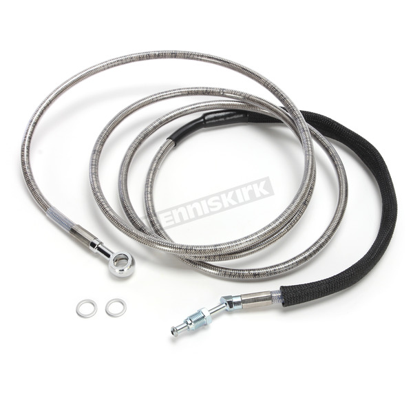 Drag Specialties Clear Coated Stainless Steel Hydraulic Clutch Line (+12