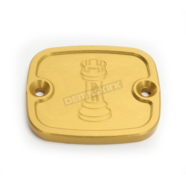 Rooke Customs Gold Front Master Cylinder Cover - R-C122-T6
