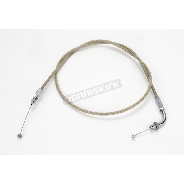 Motion Pro 51 in. Armor Coat Braided Stainless Steel Pull Throttle Cable - 62-0412