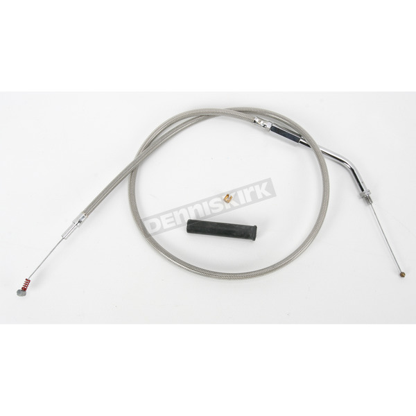 Drag Specialties Braided Idle Cable w/45 Degree Elbow - 0651-0114